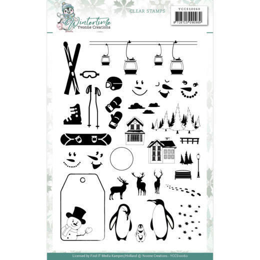 YCCS10060 Clear Stamps - Yvonne Creations - Winter Time (HJ188)