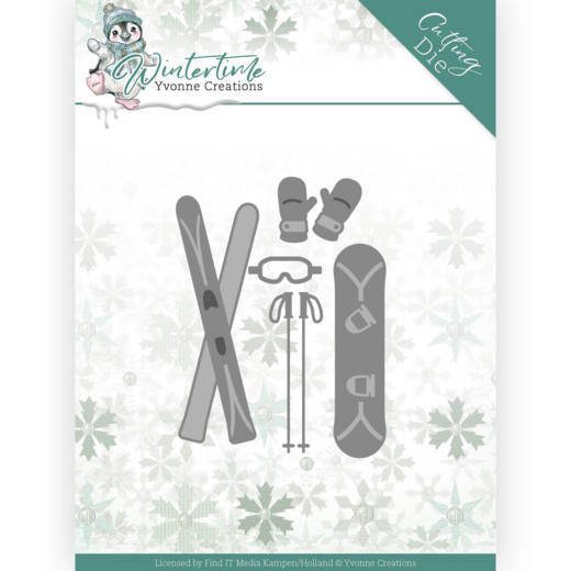 YCD10219 Dies - Yvonne Creations - Winter Time - Ski Accessoires (HJ188)