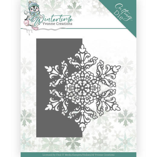 YCD10215 Dies - Yvonne Creations - Winter Time - Snowflake Border (HJ188)