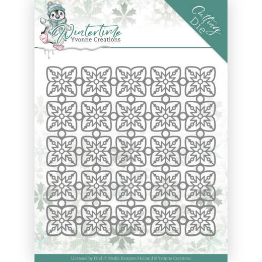YCD10214 Dies - Yvonne Creations - Winter Time - Snowflake Pattern (HJ188)