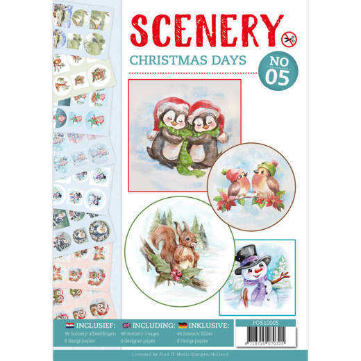 POS10005 Push Out boek Scenery 5 - Christmas Days