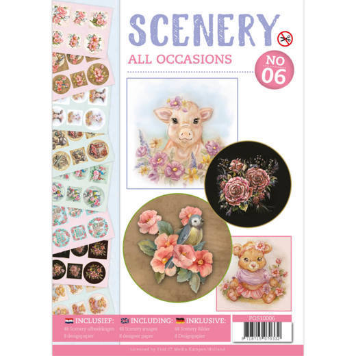 POS10006 Push Out boek Scenery 6 - All Occasions