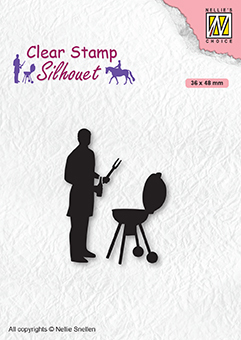 SIL071 Clear stamps Men-things Barbecue