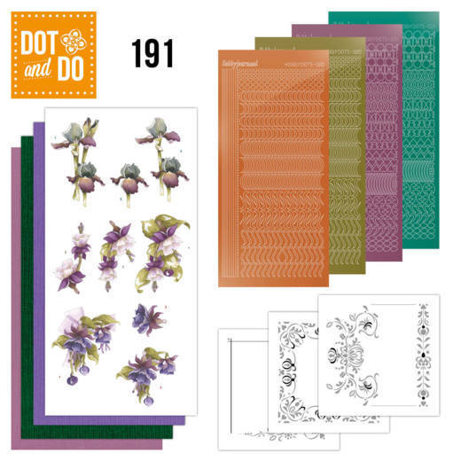 DODO191 Dot and Do 191 - Precious Marieke - Pretty Flowers - Purple Flowers