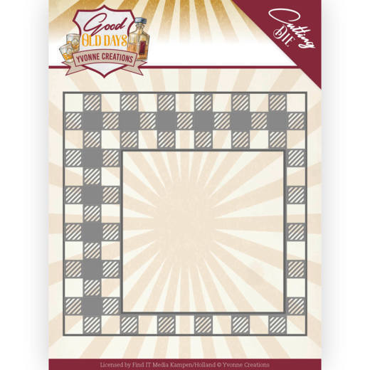 YCD10220 Dies - Yvonne Creations - Good old day's - Checkered Frame