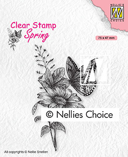 SPCS018 Clear Stamps Spring Butterfly