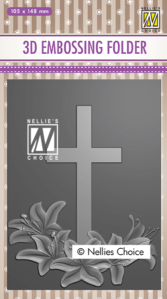 EF3D019 3D Embossing Folders cross-2