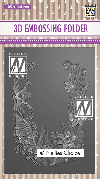 EF3D020 3D Embossing Folders flower frame