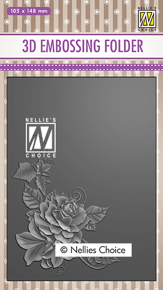 EF3D021 3D Embossing Folders Rose corner-2
