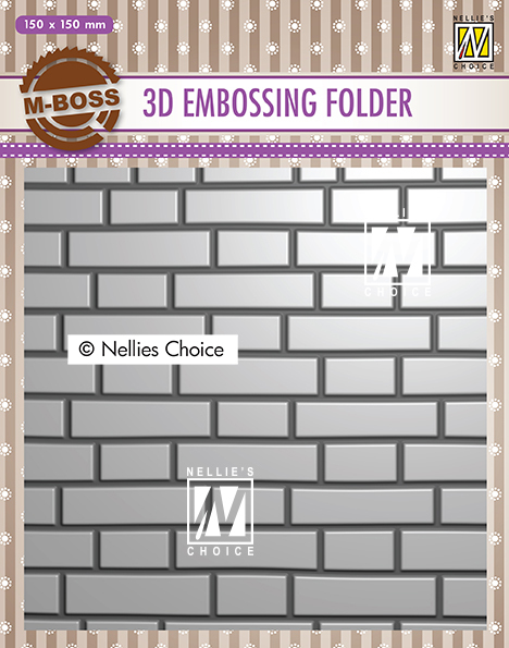 EF3D023 3D Embossing Folders brick-wall