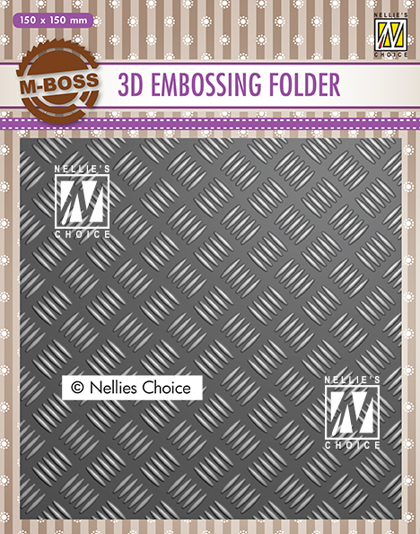 EF3D024 3D Embossing Folders strip pattern-1