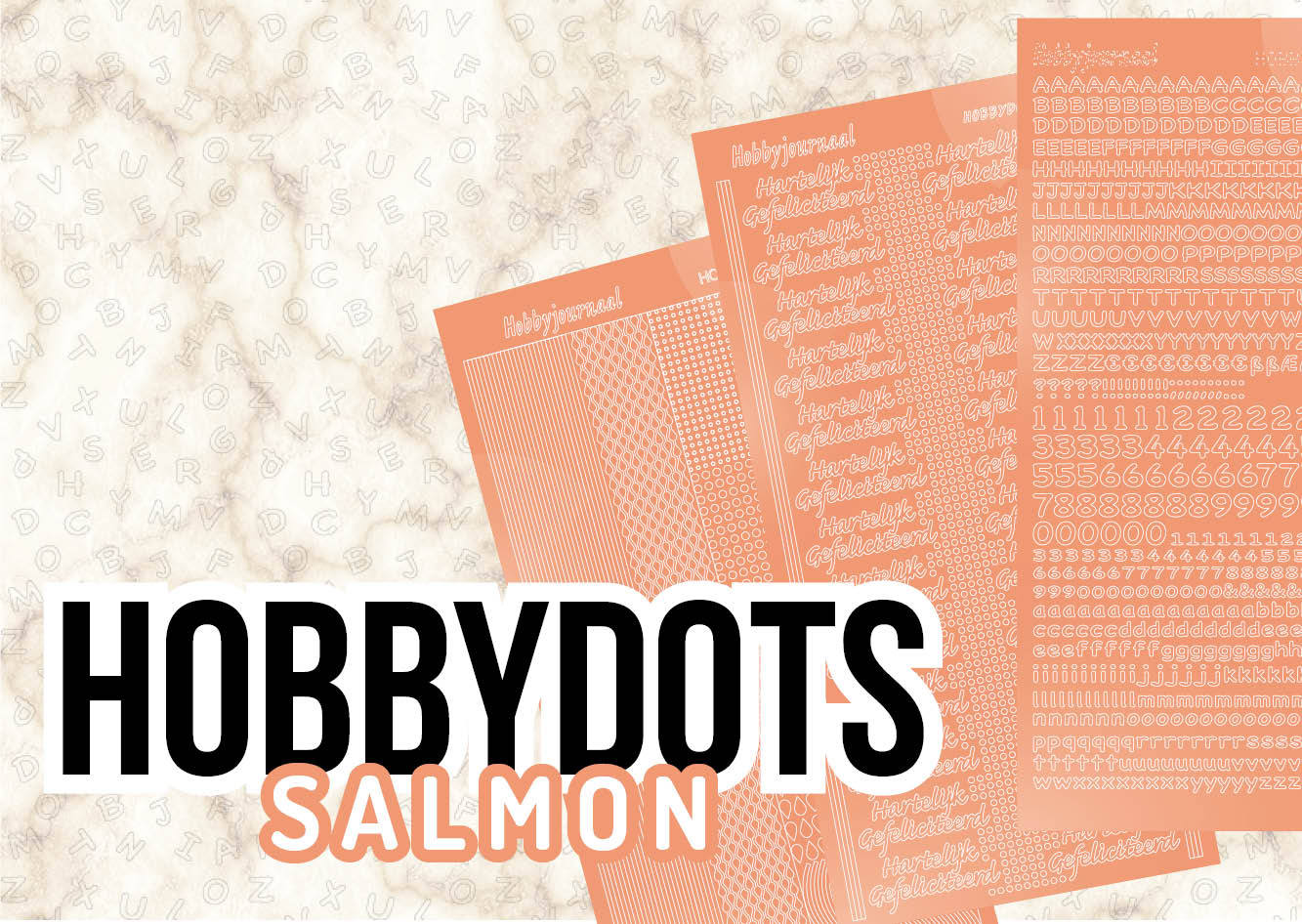 Hobby Dots Stickers Salmon